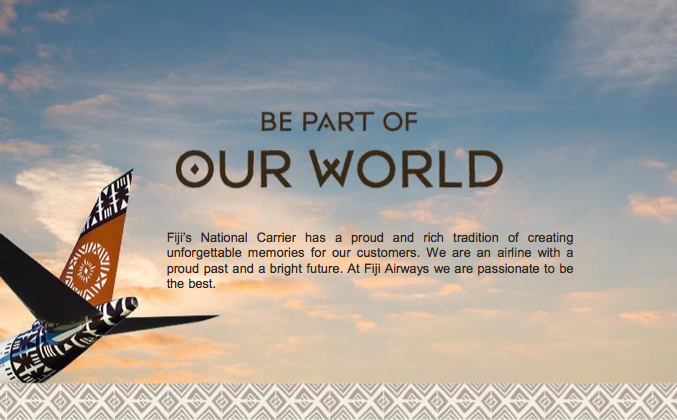 Fiji Airways - Be Part of our World